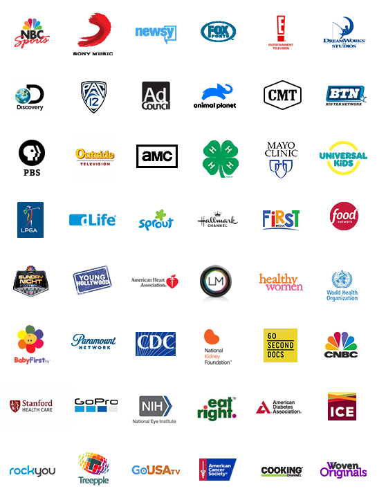 streaming video network logo brands available